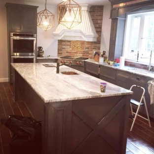 our half finished kitchen