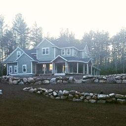 Our beautiful home minus landscape
