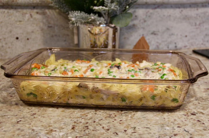 Warm and Creamy Chicken Noodle Casserole